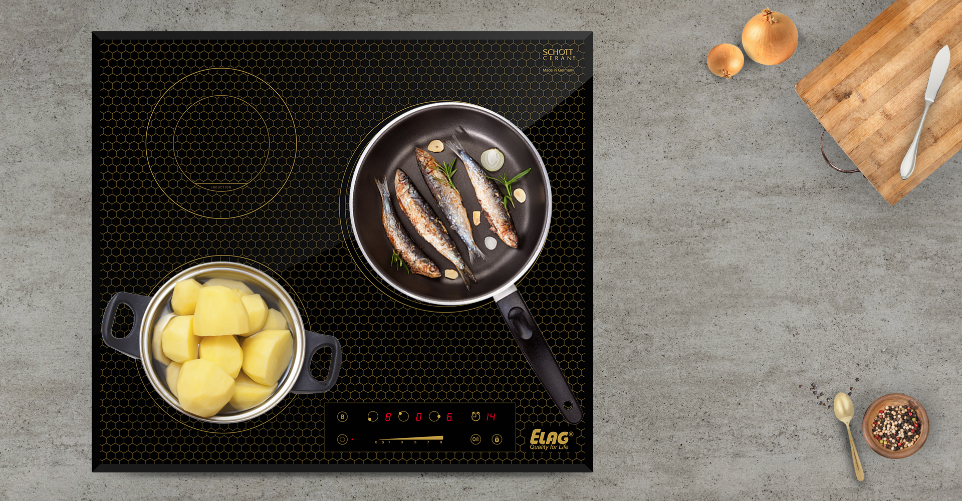"Induction Cooktop Made In Germany ~ Kmh h elag s high quality hybrid cooktop ""made"
